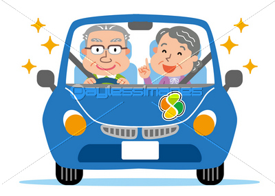 高齢者 車 高齢運転者標識  イメージID:xf4265119649モデルリリース/プロパティリ