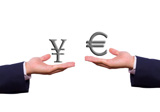 hand+exchange+euro+and+yen+sign