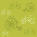 Seamless+background+with+Retro+Bicycles+-+for+design+and+scrapbook