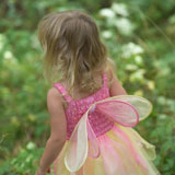 Rear+view+of+a+young+girl+in+a+fairy+costume+standing+in+a+garden