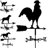 Weathervanes+and+lightning+rods+in+vector+silhouette