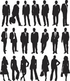 collection+of+business+people+in+silhouette+in+different+poses