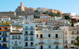 Ibiza+from+balearic+islands+in+Spain.+Mediterranean+touristic+vacation+town