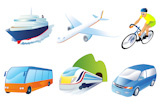 Travel+transportation+icon+set.+Vector.+Vehicles+icons