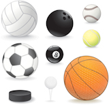 Vector+Sport+balls+collection