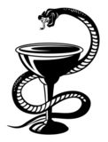 Medicine+symbol+-+snake+on+cup+in+retro+style