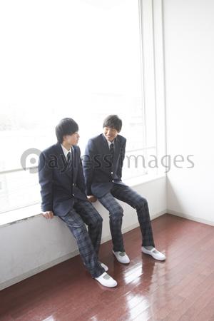 談笑する男子高校生の写真イラスト素材 Af9900099305 ペイレス