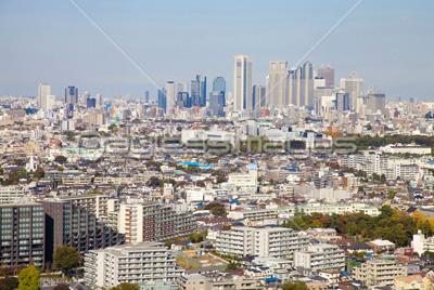 晴天時の東京の街並み