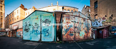 Old and rusty garages