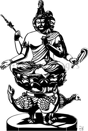 梵天像の写真・イラスト素材- 写...