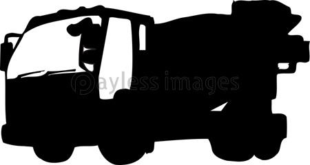 コンクリートミキサー車のシルエットの写真イラスト素材 Gf2200723232