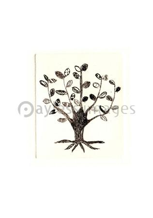 モノクロの木の写真イラスト素材 Gf2210737001 ペイレスイメージズ