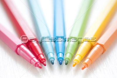 カラーペンの写真イラスト素材 写真素材ストックフォトの定額制