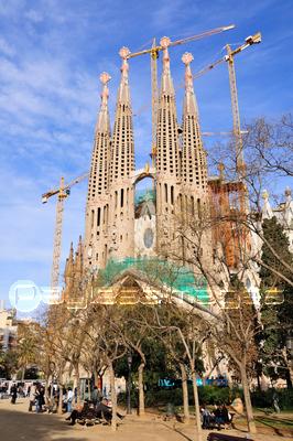 バルセロナ サグラダファミリアの写真イラスト素材 Xf0715011480