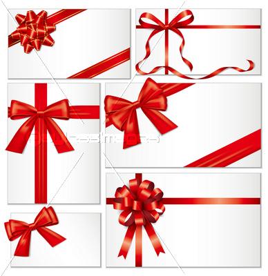 リボンと封筒の写真イラスト素材 Xf3175083389 ペイレスイメージズ