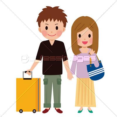 旅行するカップルの写真イラスト素材 Xf3795083444 ペイレスイメージズ