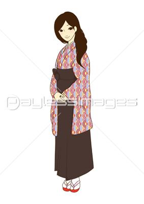 レトロなスーツの女性aiイラストベクターデータの写真イラスト