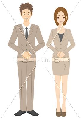 ビジネスマン ビジネスウーマン 接客の写真イラスト素材 Xf3055135815