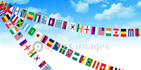 国旗 運動会 背景の写真イラスト素材 Xf3115154062 ペイレスイメージズ