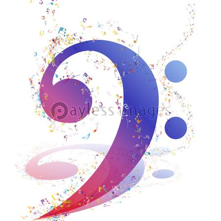 ミュージカルデザインの写真イラスト素材 Xf3765179061 ペイレス