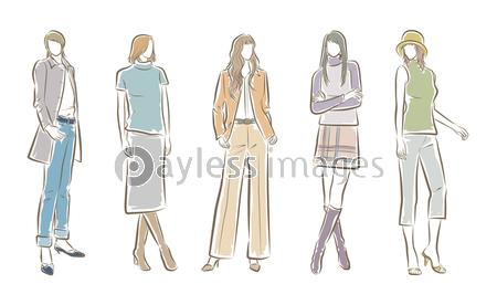 女性のファッションイラストの写真・イラスト素材 (xf3455296347