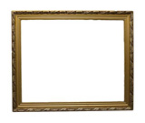 gold+antique+frame+isolated+on+white+background