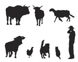 farm+collection%2C+vector+silhouettes