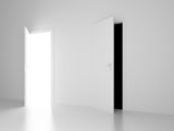 white+and+black+open+doors