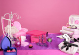 barbie+style+fashion+makeup+vanity+dressing+table+pink+and+purple+still+photo