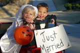 Little+Boy+And+Girl+Trick-Or-Treating+As+A+Married+Couple