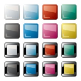 Abstract colorful buttons set