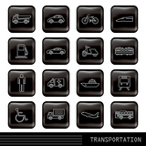Glossy transportation Icon Set